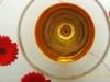 Abstraktes Weinglas mit Bügelbrett.